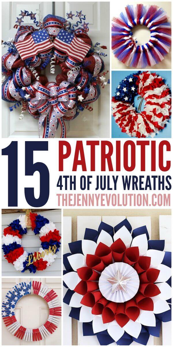 patriotic wreaths, patriotic decorating ideas