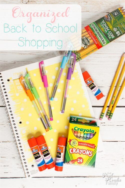 back to school ideas, orgaization tips