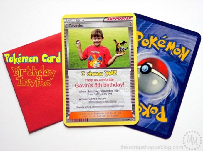 pokemon birthday party invitation