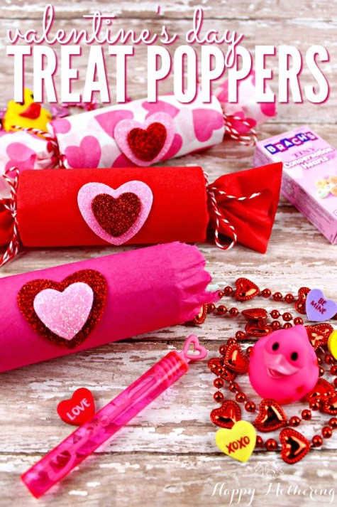 Week 161 Valentine's Day Treat Poppers from Happy Mothering