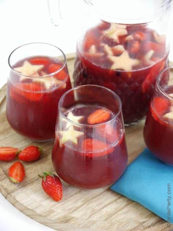 Week 235 - 4th of July Fruity Sangria from Bird's Party