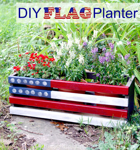 Week 235 - DIY Flag Planter from The Scrap Shoppe Blog