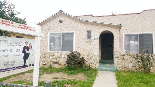SOLD! 2 BED + 1 BATH + 4K LOT SIZE   1306 HANOVER AVE, LOS ANGELES CA