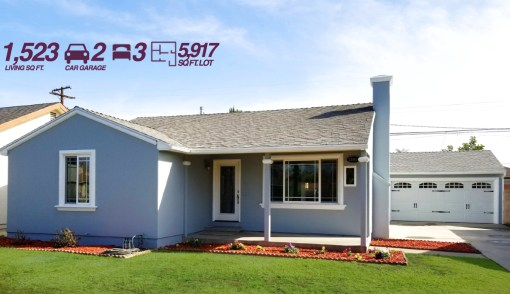 12614 La Reina Ave, Downey, CA 90242 | 3 BED | 2 CAR GARAGE | 1,523 SQ FT LIVING SPACE
