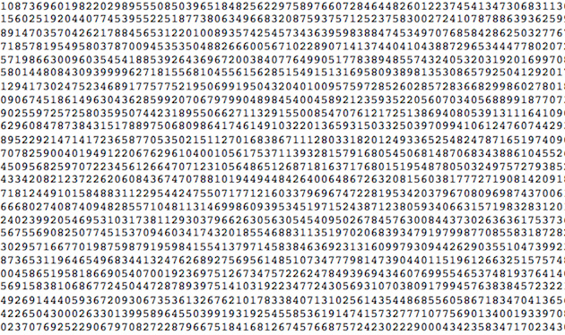 So Here Are The First Billion Digits Of Pi Motherboard