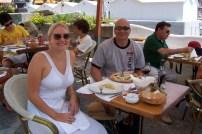Having lunch in Positano