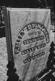 Emily Dickinson headstone photo