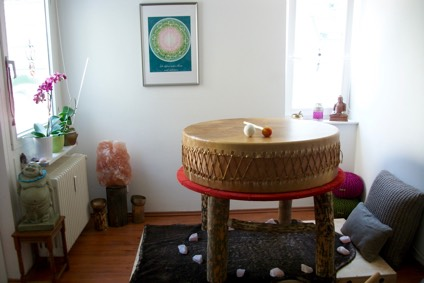 Raum mit Muttertrommel