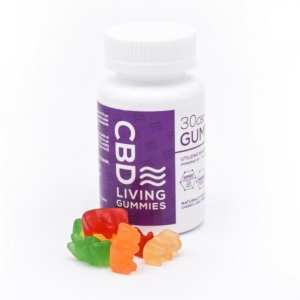 CBD Living Gummies - Regular, Vegan, Sour, Green Apple Rings
