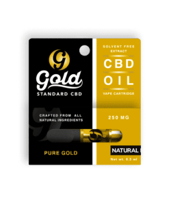 Gold Standard CBD Vape Cartridge - 225mg strength Natural