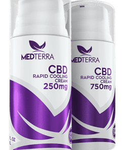 Medterra - CBD Pain Cream **THC FREE**. 250mg & 750mg Rapid Cooling Cream. Airless pump. Medterra CBD near me. CBD near me.