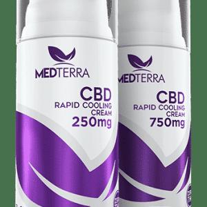 Medterra - CBD Pain Cream **THC FREE**. 250mg & 750mg Rapid Cooling Cream. Airless pump. Medterra CBD near me. CBD near me.