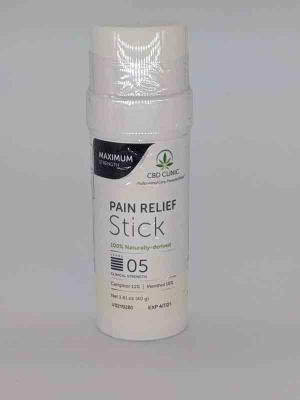 CBD CLINIC™ Level 5 Clinical Strength - Pro-Sport Pain Stick with 16% menthol, 11% camphor - Revolutionary Pain Relief for arthritis, joint pain, muscle pain, doctor recommended