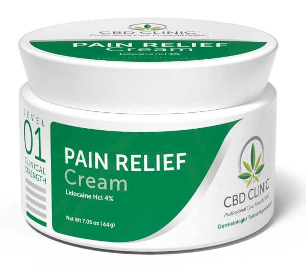 CBD Clinic Level 1 Clinical Strength - Mild Unscented with 4% Lidocaine - Revolutionary Pain Relief for arthritis, joint pain, muscle pain, doctor recommended
