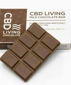 CBD Living Chocolate. Full Spectrum nano hemp extract CBD. Bars come in Dark Chocolate and Milk Chocolate. Each bar has 120MG of CBD which is 15mg per segment