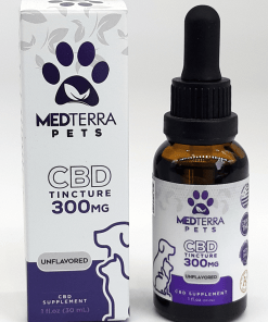 Medterra Unflavored 300mg CBD Pet Oil. Pet product that gives relief from anxiety, inflammation, pain, and arthritis.