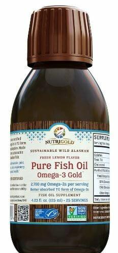 Nutrigold Pure Fish Oil. Omega-3 Gold. 2,700mg Omega-3s per serving