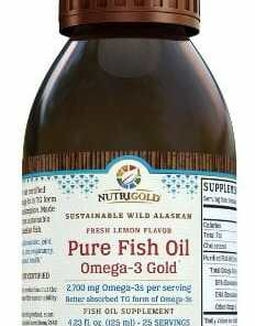 Nutrigold Pure Fish Oil. Omega-3 Gold. 2,700mg Omega-3s per serving