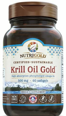 Nutrigold Kril Oil Gold 500mg. High-absorption phospholipid omega-3s