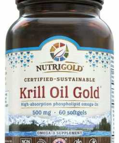 Nutrigold Kril Oil Gold 500mg. High-absorption phospholipid omega-3s