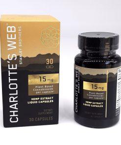 Charlotte's Web CBD Capsules 15mg per capsule. 30ct
