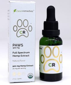 Clean Remedies - Full Spectrum CBD - PAWS for Pets **Top seller for pets**. USDA Organic