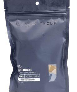 Infinite CBD Asteroids. CBD Isolate Gummies. Assorted Fruit. 25mg per gummy. 500mg