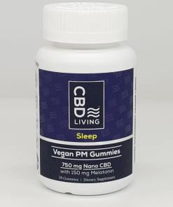 CBD living vegan sleep gummies