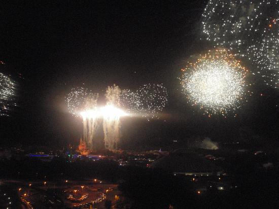 Fireworks from Disney's Contemporary Resort Lounge