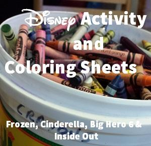 Disney Activity Sheets
