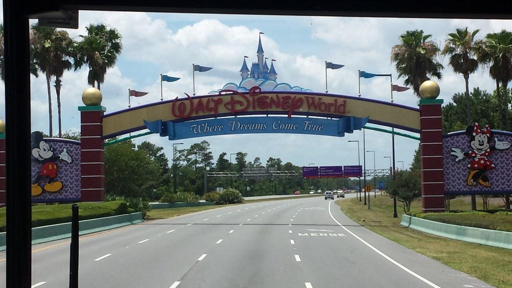 Walt Disney World welcome sign