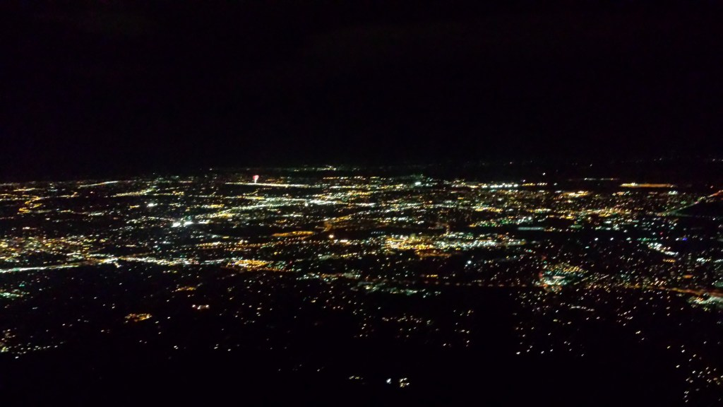 City Lights From Cloud Camp