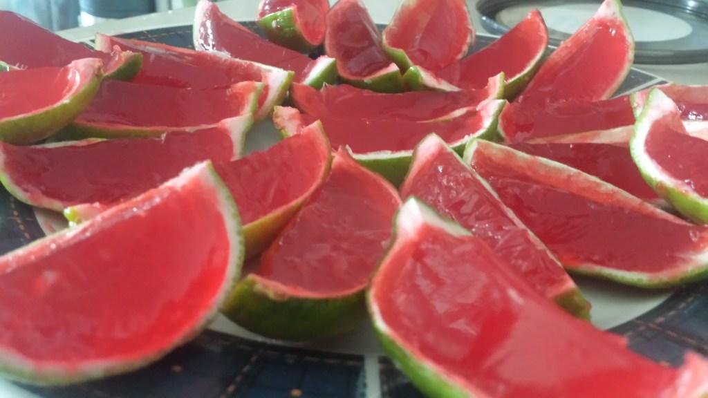 Cherry Limeade Jello Shots