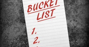 making a bucket list