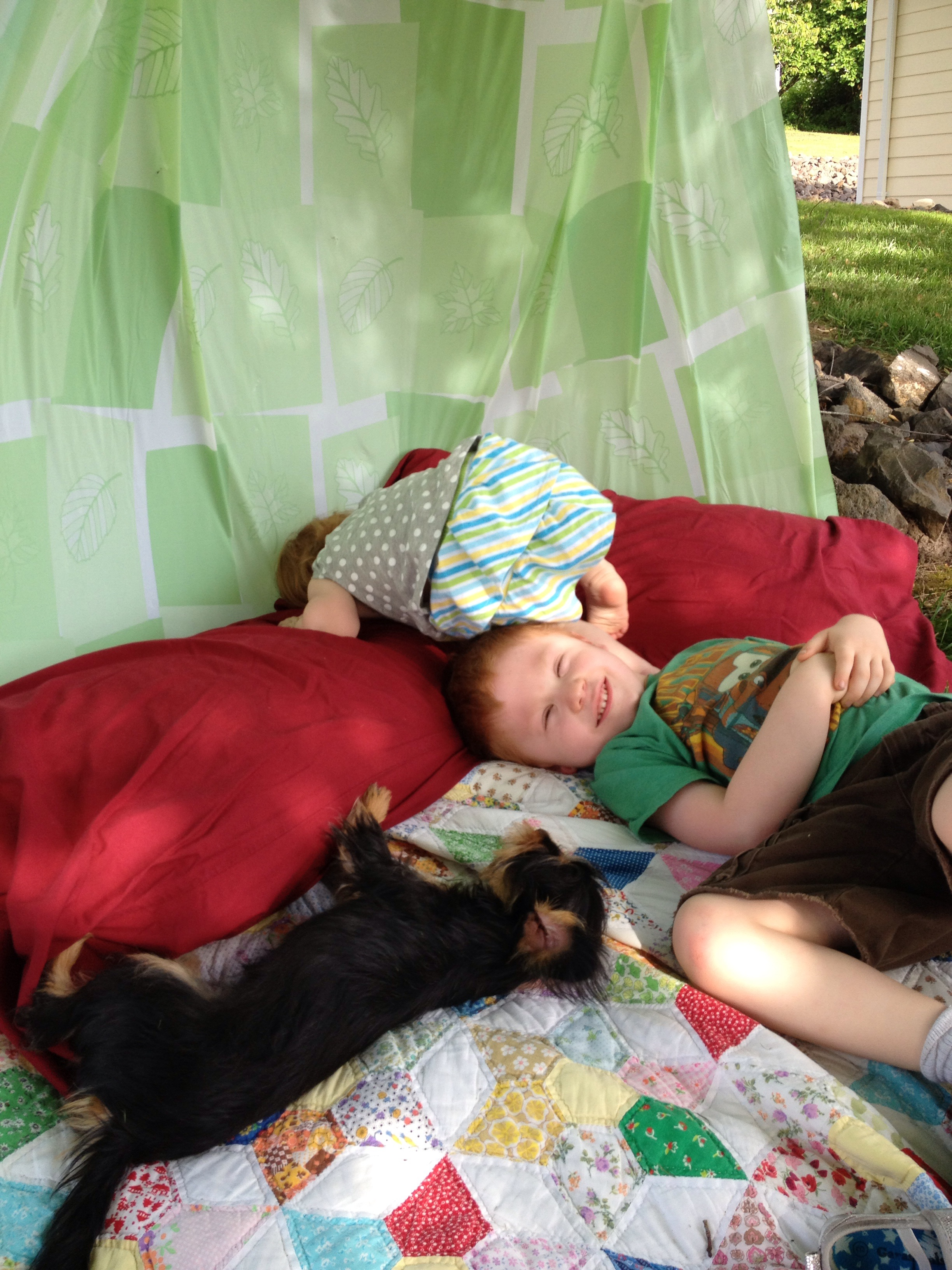 DIY Outdoor Reading Den for Kids  Motherhood And Other