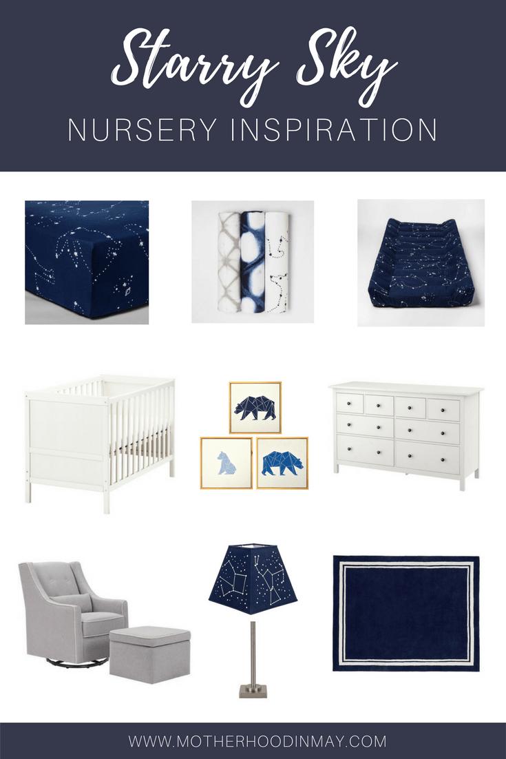 starry sky nursery inspo