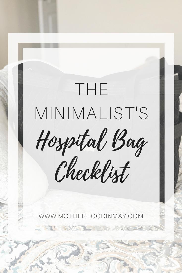 minimalists hospital bag checklist