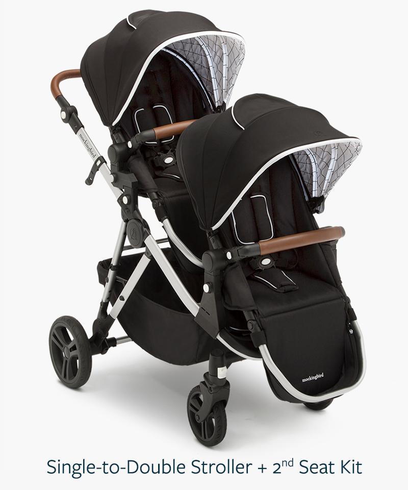 hello mockingbird single to double stroller