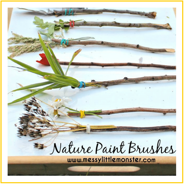 NATURE PAINT BRUSHES -20 OF THE BEST SUMMER ACTIVITIES FOR TODDLERS
