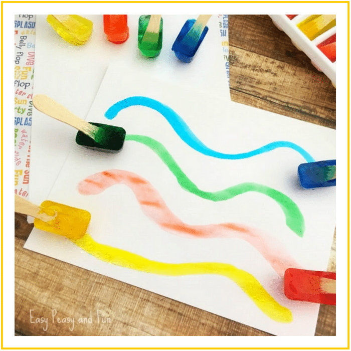 PAINTING WITH ICE-20 OF THE BEST SUMMER ACTIVITIES FOR TODDLERS