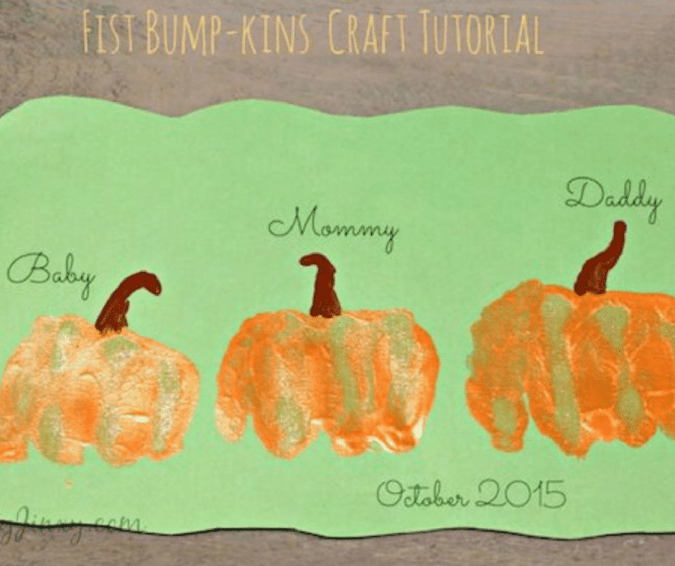 Fist-bumpkins Pumpkin Craft - Halloween Crafts for Toddlers