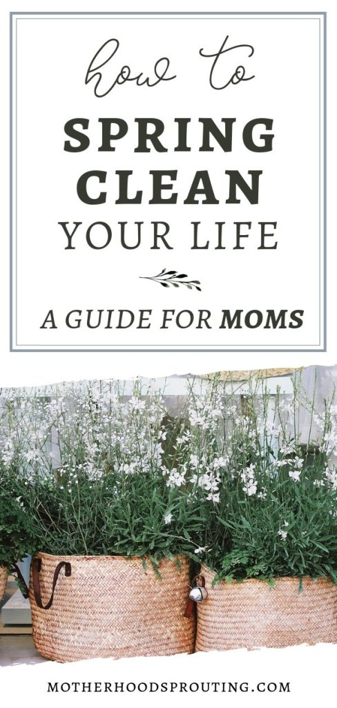 How to Spring Clean Your Life: A Guide for Moms. Learn how to spring clean your life so you can emerge refreshed, recharged, and ready to take on the rest of the year as the best mom you can possibly be!
