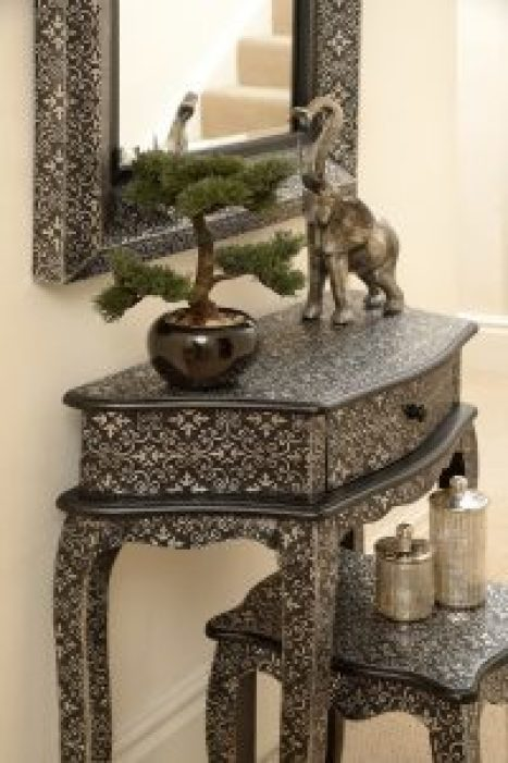 Noir Furniture dresser and stool