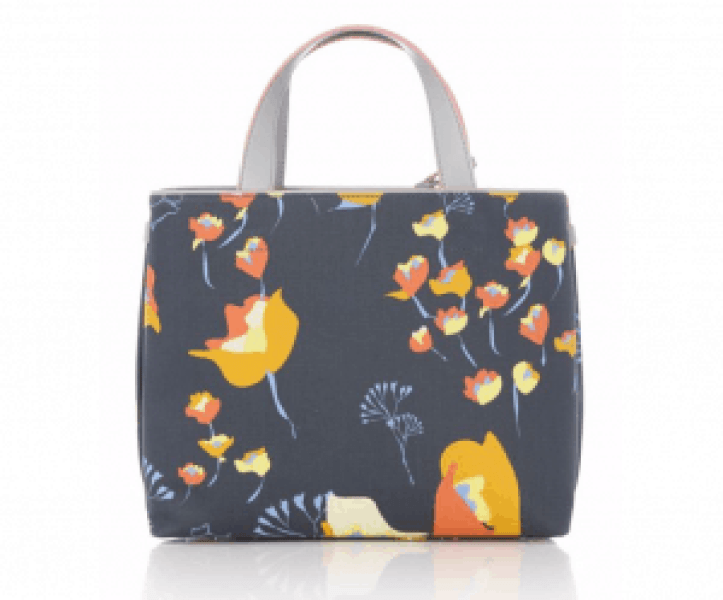 Floral patterned tote bag