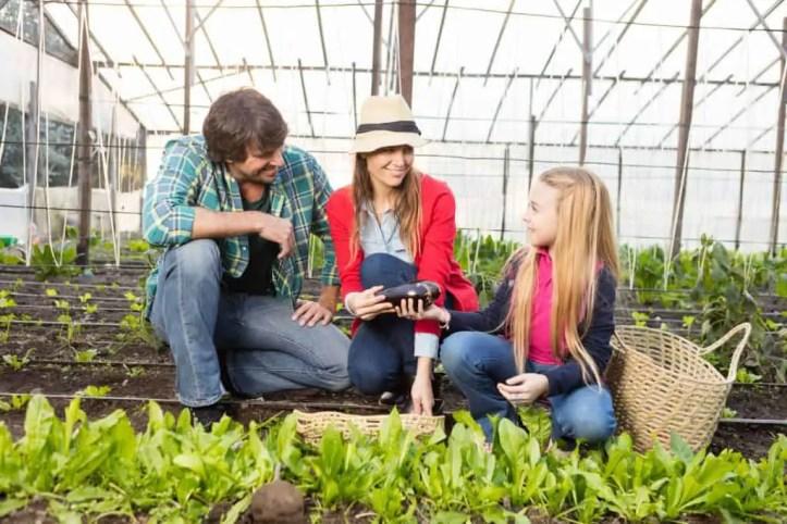 children into gardening