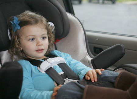 child in a rear-facing car seat