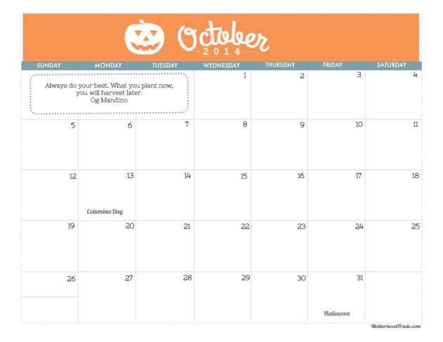 calendars_October 2014