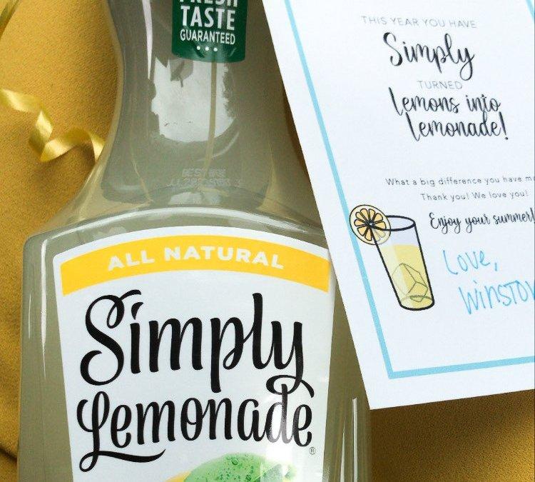 Lemons into Lemonade Teacher appreciation Printables (FREE)