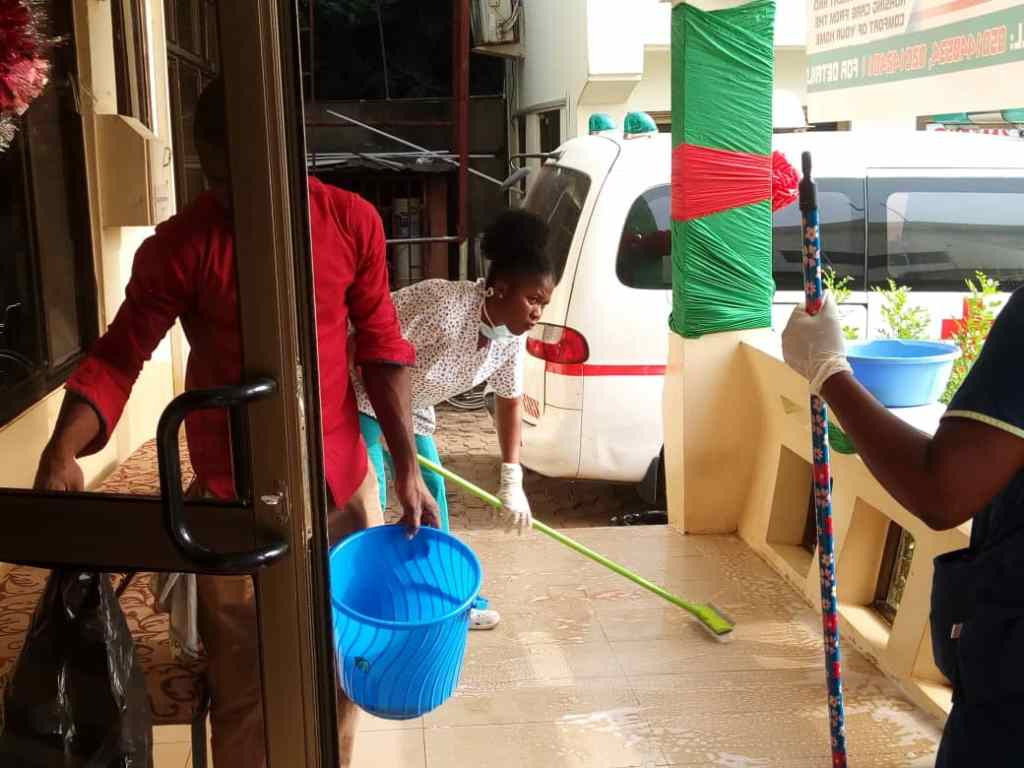 General Cleaning by staff of Mother-Love Hospital on 25th December 2018