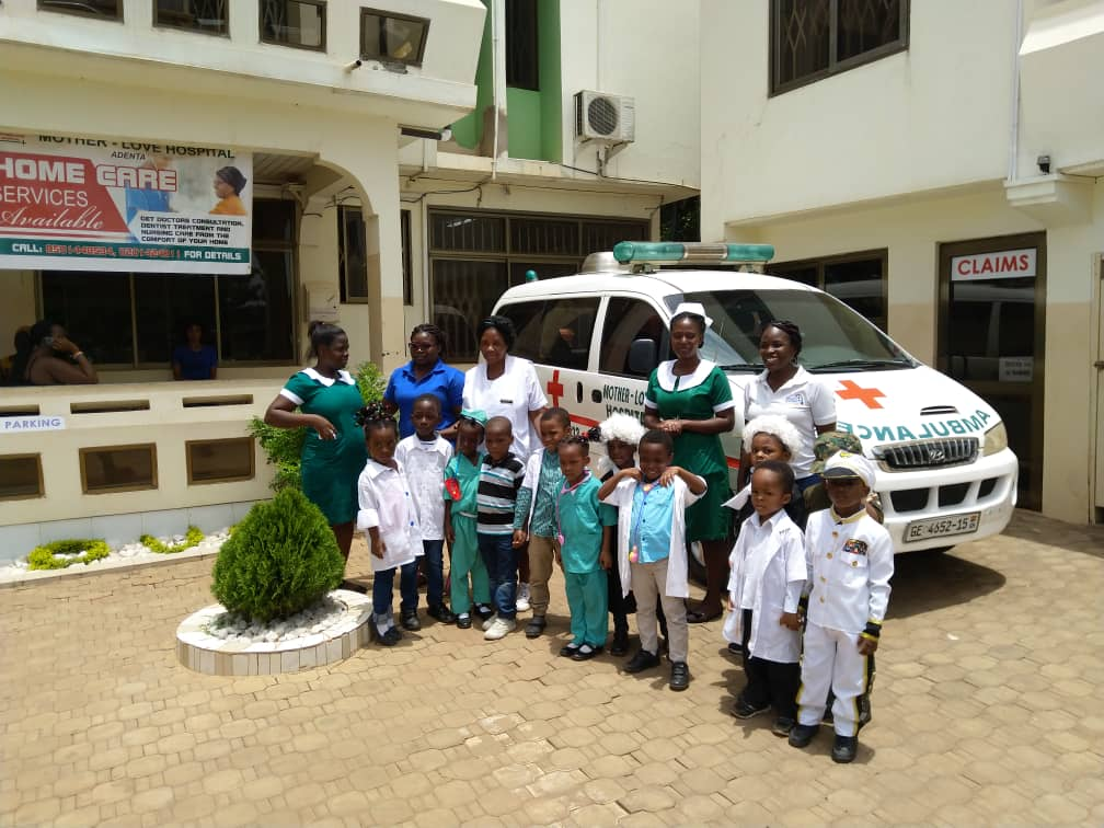 Career day Friday 29th March 2019. Future Leaders from Little Pumpkins visit Mother-Love Hospital.